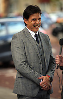 Pictured: Chris Coleman interviewed for the radio Thursday 20 October 2016<br />