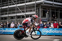 fans allowed, but without much social distancing...<br /> Stefano Oldani (ITA/Lotto Soudal) passing by<br /> <br /> 104th Giro d'Italia 2021 (2.UWT)<br /> Stage 1 (ITT) from Turin to Turin (8.6 km)<br /> <br /> ©kramon