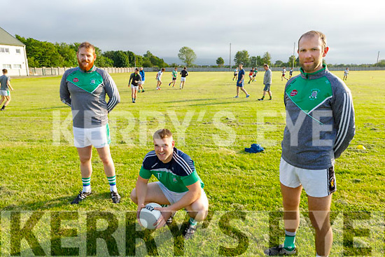 Dan O'Connor, Jamie Lohan and Kieran Dineen members of Na Gaeil GAA ready for action as the club activities open up.