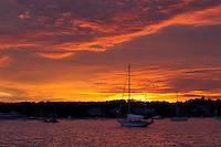 Sunset on Vineyard Haven harbor on Martha's Vineyard