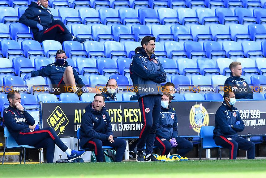 Reading ManagerVeljko Paunovic watches on during Reading vs Watford, Sky Bet EFL Championship Football at the Madejski Stadium on 3rd October 2020