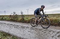 Michal Kwiatkowski (POL/Ineos Grenadiers)<br /> <br /> 118th Paris-Roubaix 2021 (1.UWT)<br /> One day race from Compiègne to Roubaix (FRA) (257.7km)<br /> <br /> ©kramon