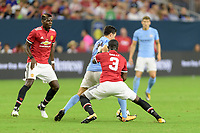 Houston, TX - Thursday July 20, 2017: Eric Bailly, Samir Nasri during a match between Manchester United and Manchester City in the 2017 International Champions Cup at NRG Stadium.