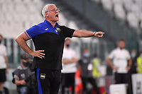 Claudio Ranieri coach of UC Sampdoria reacts during the Serie A football match between Juventus FC and UC Sampdoria at Juventus stadium in Turin (Italy), July 26th, 2020. Play resumes behind closed doors following the outbreak of the coronavirus disease. <br /> Photo Federico Tardito / Insidefoto