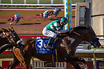 DEL MAR, CA  JULY 27: #3 Cistron, ridden by Victor Espinoza, win the Bing Crosby Stakes (Grade l) a Breeders' Cup Win and You're In Sprint Division, on July 27, 2019 at Del Mar Thoroughbred Club in Del Mar, CA. (Photo by Casey Phillips/Eclipse Sportswire/CSM)