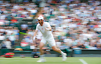 2nd July 2021; Wimbledon, SW London. England; Wimbledon Tennis Championships, day 5;  Andy Murray of Great Britain competes during the mens singles third round match between Andy Murray of Great Britain and Denis Shapovalov of Canada