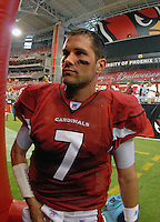 Aug 18, 2007; Glendale, AZ, USA; Arizona Cardinals quarterback Matt Leinart (7) against the Houston Texans at University of Phoenix Stadium. Mandatory Credit: Mark J. Rebilas-US PRESSWIRE Copyright © 2007 Mark J. Rebilas