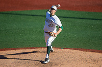 Charlotte 49ers starting pitcher Colton Laws (42) in action against the Xavier Musketeers at Hayes Stadium on March 3, 2017 in Charlotte, North Carolina.  The 49ers defeated the Musketeers 2-1.  (Brian Westerholt/Four Seam Images)
