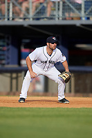 Binghamton Rumble Ponies first baseman Cody Decker (12) during a game against the Altoona Curve on May 17, 2017 at NYSEG Stadium in Binghamton, New York.  Altoona defeated Binghamton 8-6.  (Mike Janes/Four Seam Images)