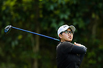 Aretha Pan of Malaysia tees off during the first round of the EFG Hong Kong Ladies Open at the Hong Kong Golf Club Old Course on May 11, 2018 in Hong Kong. Photo by Marcio Rodrigo Machado / Power Sport Images
