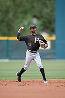 Pittsburgh Pirates Victor Ngoepe (61) during a Minor League Spring Training Intrasquad game on March 31, 2018 at Pirate City in Bradenton, Florida.  (Mike Janes/Four Seam Images)