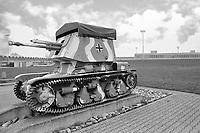 - Switzerland, the tank museum in Thun (Bern), GW 35R self-propelled anti-tank gun, made by Germani on the chassis of the French Renault R35 war booty tank<br /> <br /> - Svizzera, il museo dei carri armati di Thun (Berna), cannone anticarro semovente GW 35R, realizzato dalla Germania sul telaio del carro armato francese Renault R35 preda bellica