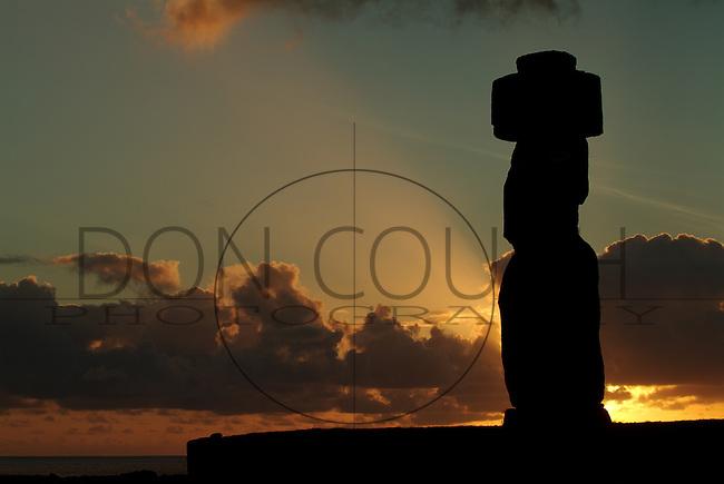 Sunset at Ahu Tahai, Easter Island