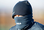 St Johnstone Training…08.12.17<br />Murray Davidson well wrapped up against the freezing wind at McDiarmid Park today during training ahead of tomorrow's game at Hamilton<br />Picture by Graeme Hart.<br />Copyright Perthshire Picture Agency<br />Tel: 01738 623350  Mobile: 07990 594431