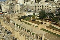 Ruins of the Roman theatre and the city, Amman, Jordan.