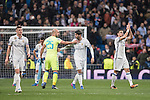 The Real Madrid celebrates at the end of the match Real Madrid vs Napoli, part of the 2016-17 UEFA Champions League Round of 16 at the Santiago Bernabeu Stadium on 15 February 2017 in Madrid, Spain. Photo by Diego Gonzalez Souto / Power Sport Images