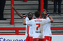 Francis Zoko of Stevenage (l) celebrates scoring his second goal<br />  - Stevenage v Portsmouth - FA Cup 1st Round  - Lamex Stadium, Stevenage - 9th November, 2013<br />  © Kevin Coleman 2013