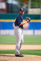 Scranton/Wilkes-Barre RailRiders relief pitcher Tyler Webb (38) gets ready to deliver a pitch during a game against the Buffalo Bisons on July 2, 2016 at Coca-Cola Field in Buffalo, New York.  Scranton defeated Buffalo 5-1.  (Mike Janes/Four Seam Images)