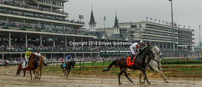 LOUISVILLE, KY - MAY 05: Limousine Liberal #7, ridden by Jose Ortiz wins the Churchill Downs on Kentucky Derby Day at Churchill Downs on May 5, 2018 in Louisville, Kentucky. (Photo by Mary Meeks/Eclipse Sportswire/Getty Images)