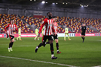 22nd December 2020; Brentford Community Stadium, London, England; English Football League Cup Football, Carabao Cup, Brentford FC versus Newcastle United; Josh Dasilva of Brentford celebrates after scoring his sides 1st goal in the 66th minute to make it 1-0