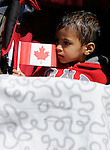 Calgary, AB - June 6 2014 - A young fans watches the Celebration of Excellence Parade of Champions. (Photo: Matthew Murnaghan/Canadian Paralympic Committee)