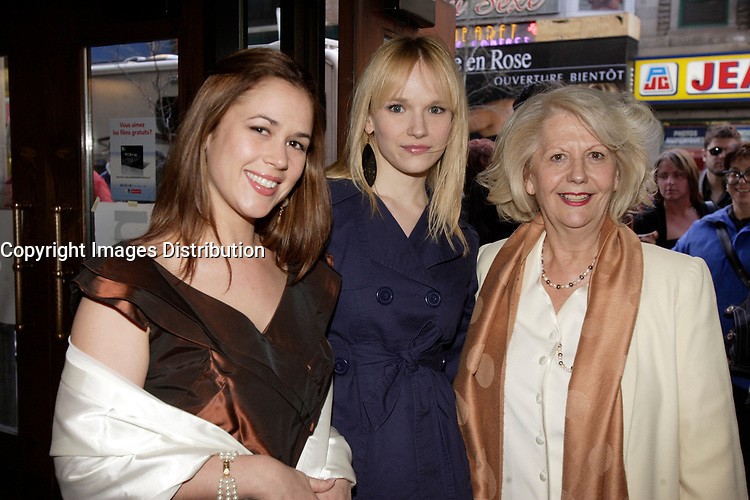Montreal (Qc) Canada, May 3rd 2007<br /> <br /> Victoria Sanchez, Actress (L)<br /> -Marianne Farley, actress, (M)<br /> at the red carpet event to celebrate that<br /> Paramount become Scotia Bank Cinema<br /> <br /> photo : Pierre Roussel (c)  Images Distribution