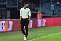12th September 2021; Olympic Stadium, Rome, Italy, Serie A championship football, Roma versus Sassuolo ; Sassuolo trainer Alessio Dionisi