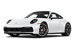 Stock pictures of low aggressive front three quarter view of a 2020 Porsche 911 Carrera S 2 Door Coupe