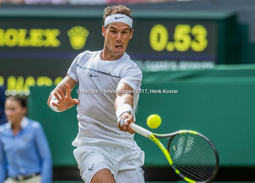 London, England, 7 th July, 2017, Tennis,  Wimbledon,  Rafael Nadal (ESP)<br /> Photo: Henk Koster/tennisimages.com