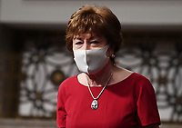 United States Senator Susan Collins (Republican of Maine), of the Senate Health, Education, Labor and Pensions (HELP) Committee, wears a face mask during a hearing on Capitol Hill in Washington DC on Tuesday, June 30, 2020.  Dr. Anthony Fauci, director of the National Institute for Allergy and Infectious Diseases, and other government health officials updated the Senate on how to safely get back to school and the workplace during the COVID-19 pandemic. <br /> Credit: Kevin Dietsch/CNP/AdMedia