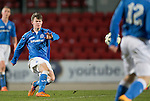 St Johnstone Academy v Manchester United Academy....17.04.15   <br /> Paul Simpson<br /> Picture by Graeme Hart.<br /> Copyright Perthshire Picture Agency<br /> Tel: 01738 623350  Mobile: 07990 594431