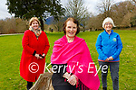 Noreen Collins, Angela Curran and Catherine O'Reilly launching the Vivian O'Shea/Sheila McGillicuddy Long Good Friday walk in Killarney on Monday