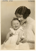 BNPS.co.uk (01202 558833)<br /> Pic: MarcusAdams/ChiswickAuctions/BNPS<br /> <br /> Princess Elizabeth(1) with her mother in 1927.<br /> <br /> Charming childhood photos of Princess Elizabeth and Princess Margaret have come to light, including a previously unseen image of the future Queen in a kilt.<br /> <br /> The portraits, taken by acclaimed British society photographer Marcus Adams, capture the future Queen from being a baby to her adolescence.<br /> <br /> The Queen Mother would often take her daughters to his central London studio where he would set up toys and props to keep them entertained