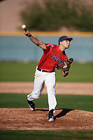 Joe Biancone (13) of John Jay High School in Waccabuc, New York during the Baseball Factory All-America Pre-Season Tournament, powered by Under Armour, on January 13, 2018 at Sloan Park Complex in Mesa, Arizona.  (Mike Janes/Four Seam Images)