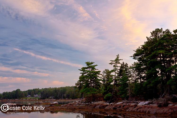 Dawn on Taunton Bay, Sullivan, ME, USA