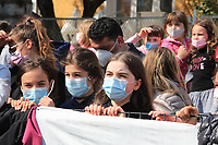 22nd April 2021;  Cycling Tour des Alpes Stage 4, Naturns/Naturno to Pieve di Bono, Italy on 22nd; Fans watch wearing masks