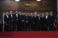 70th Anniversary Red Carpet Arrivals - The 70th Annual Cannes Film Festival<br /> CANNES, FRANCE - MAY 23: Former Palme D'Or winners (L-R) Jane Campion, Ken Loach, Michael Haneke, Costa-Gavras, Cristian Mungiu, Nanni Moretti, David Lynch, Bille August, Claude Lelouch, Roman Polanski, Jerry Schatzberg, Mohammed Lakhdar-Hamina and Laurent Cantet attend the 70th Anniversary screening during the 70th annual Cannes Film Festival at Palais des Festivals on May 23, 2017 in Cannes, France