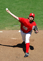 15 June 2006: Gary Majewski, pitcher for the Washington Nationals, on the mound against the Colorado Rockies at RFK Stadium, in Washington, DC. The Rockies defeated the Nationals, 8-1 to sweep the four-game series...Mandatory Photo Credit: Ed Wolfstein Photo...