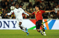Jozy Altidore of USA and Joan Capdevila of Spain. USA vs Spain during the FIFA Confederations Cup at Free State Stadium in Manguang/Bloemfontein, South Africa on June 24, 2009..