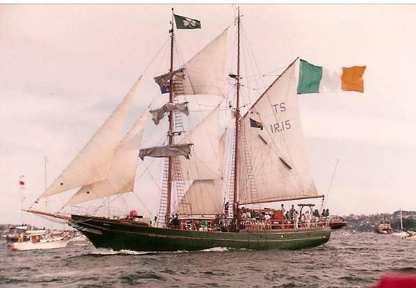 Ireland's brigantine Asgard II at the Australian 200th celebrations