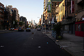 New York New York<br /> June 6, 2020<br /> <br /> After several nights of looting, nearly all ground level windows in Soho and the lower East side are covered with plywood. Most of the shops had been looted others are boarded for protection. <br /> <br /> At curfew, 8pm till 5am police cordon of certain streets and only allow residence with an ID to pass. By 8 the streets were empty in Manhattan.