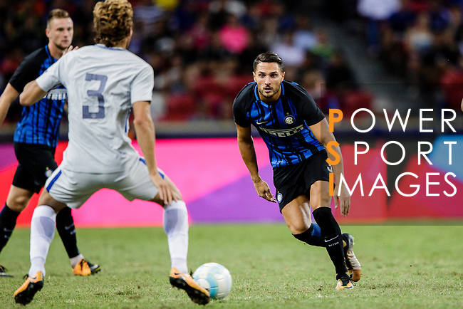 FC Internazionale Defender Danilo D'Ambrosio (R) in action during the International Champions Cup 2017 match between FC Internazionale and Chelsea FC on July 29, 2017 in Singapore. Photo by Marcio Rodrigo Machado / Power Sport Images
