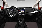 Stock photo of straight dashboard view of 2016 Honda Jazz Elegance 5 Door Hatchback Dashboard