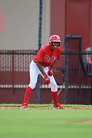 GCL Phillies West Jadiel Sanchez (53) leads off during a Gulf Coast League game against the GCL Tigers West on July 27, 2019 at the Carpenter Complex in Clearwater, Florida.  (Mike Janes/Four Seam Images)