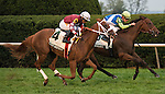 October 09 2015: Ageless and jockey Julien Leparoux win the 19th running of The Buffalo Trace Franklin County (Listed) $100,000 for trainer Arnaud Delacour and owner Lael Stables, with Lady Shipman and jockey Eduardo Nunez finishing 2nd. Samatha Bussanich/ESW/Cal Sport Media