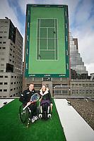 Rotterdam, The Netherlands, Februari 8, 2016,  ABNAMROWTT, Maikel Scheffers (NED), Esther Vergeer (NED)<br /> Photo: Tennisimages/Henk Koster
