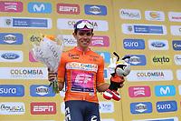 TUNJA - COLOMBIA, 15-02-2020: Sergio Higuita (COL), EF EDUCATION FIRST, líder de la general después de la quinta etapa del Tour Colombia 2.1 2020 con un recorrido de 180,5 km que se corrió entre Paipa, Boyacá, y Zipaquirá, Cundinamarca. / Sergio Higuita (COL), EF EDUCATION FIRST, overal leader after the fifth stage of 180,5 km as part of Tour Colombia 2.1 2020 that ran between Paipa, Boyaca, y Zipaquirá, Cundinamarca.  Photo: VizzorImage / Darlin Bejarano / Cont
