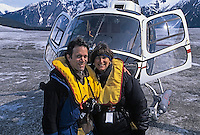 Tourist couple explores remote areas of Alaska via helicopter