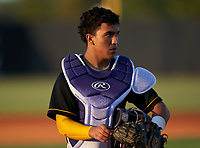Montverde Academy Eagles catcher Salvador Alvarez (16) during a game against the IMG Academy Ascenders on April 8, 2021 at IMG Academy in Bradenton, Florida.  (Mike Janes/Four Seam Images)