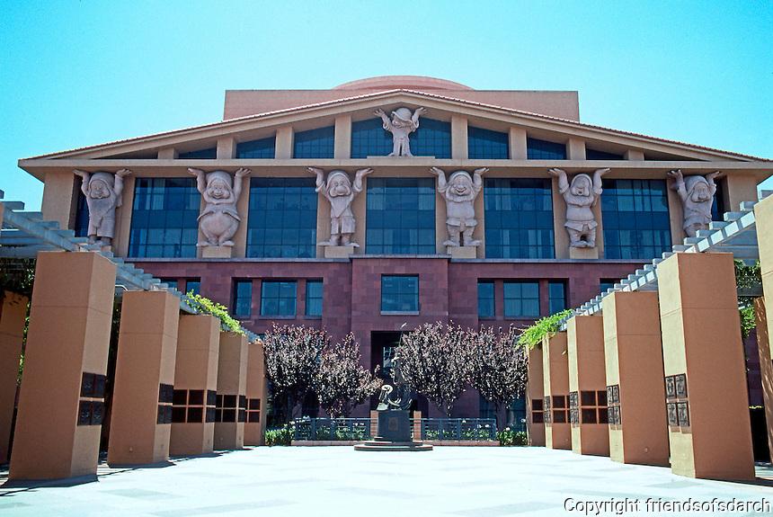 Michael Graves: Administration Building, Disney Studios. Los Angeles 1991. Red Sandstone.
